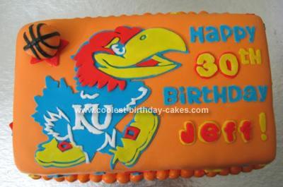 Homemade Basketball Birthday Cake