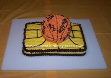 Homemade Basketball Court Cake