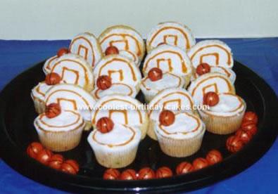 Homemade Basketball Goal Cupcakes