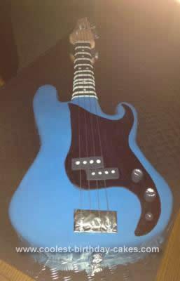 Homemade Bass Guitar Cake