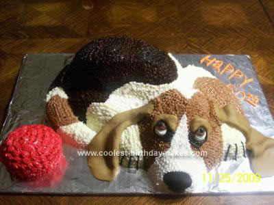 Homemade Basset Hound 50th Birthday Cake