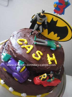 Homemade Batman Birthday Cake Design