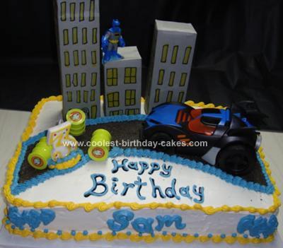 Homemade Batman Cake in Gotham City