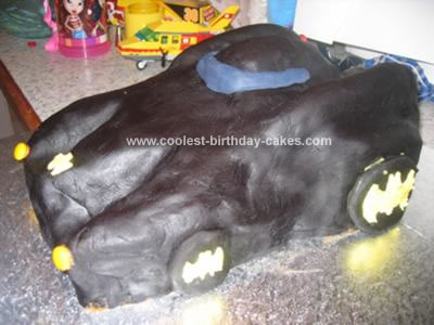 Homemade Batmobile Cake