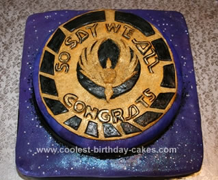 Homemade Battlestar Galactica Cake