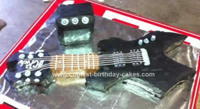 Homemade BC Rich Guitar Cake