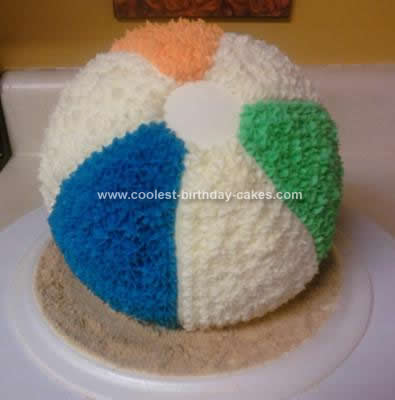 Homemade Beach Ball Cake Idea