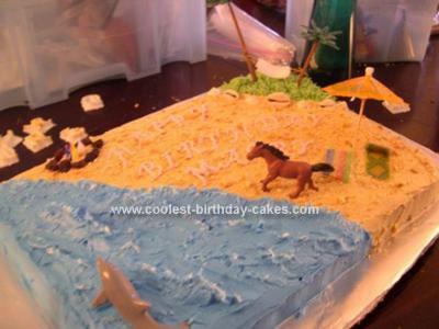 Homemade Beach Cake