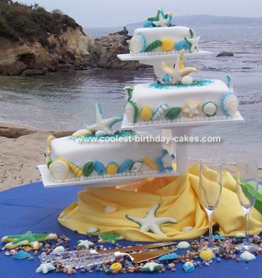 Coolest Beach Wedding Cake