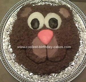 Homemade Bear Birthday Cake