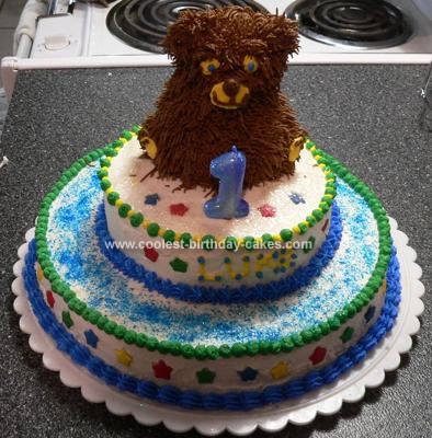 I made this Beary First Birthday Cake for my friend's little boy's first