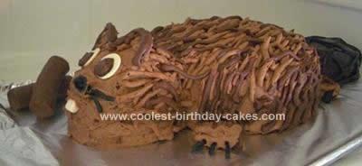 Homemade Beaver Birthday Cake
