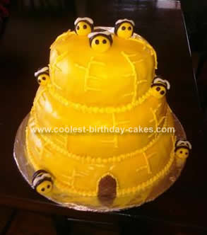 Homemade Beehive Birthday Cake