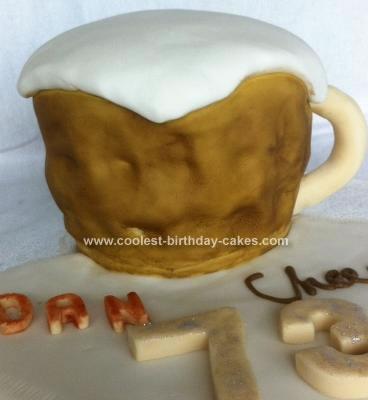 Homemade Beer Birthday Cake