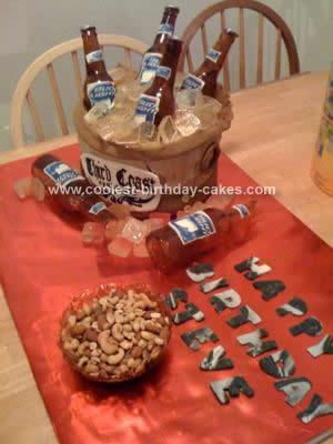 Homemade Beer Bottle Cake Design