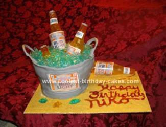 Homemade Beer Bucket Cake
