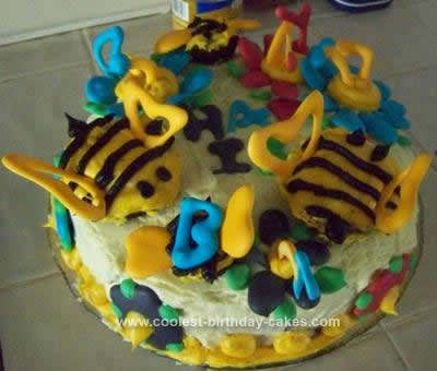 Homemade BEE-utiful Birthday Cake