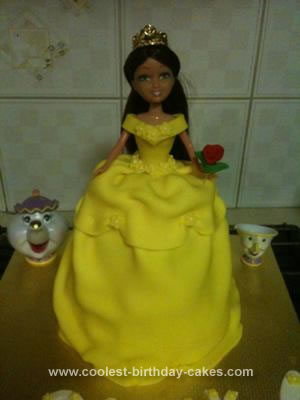 Homemade Belle (Beauty and the Beast) Cake