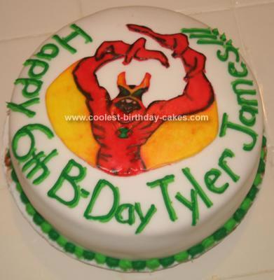 Homemade Ben 10 Alien Force Birthday Cake