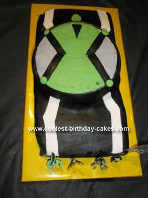 Homemade Ben 10 Omintrex Birthday Cake