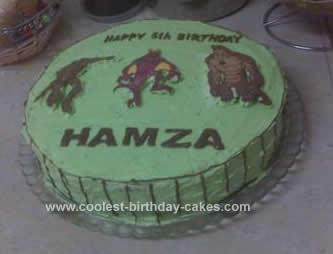 Homemade Ben10 Cake