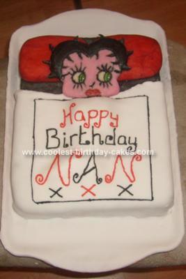 Homemade Betty Boop Cake