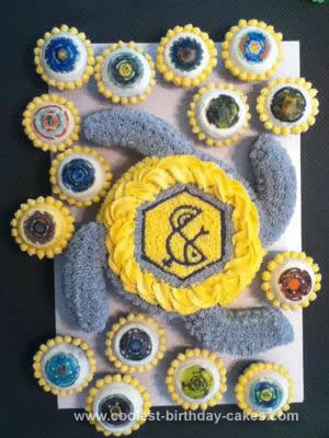 Homemade Beyblade Cake and Cupcakes