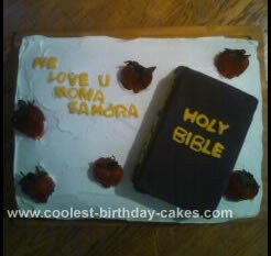 Bible Birthday Cakes http://www.coolest-birthday-cakes.com/coolest-bible-cake-23.html