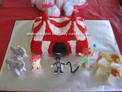 Homemade Big Top Birthday Cake