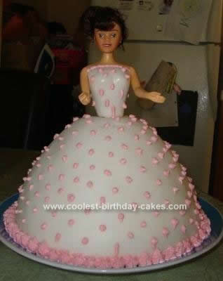 Homemade Birthday Barbie Cake