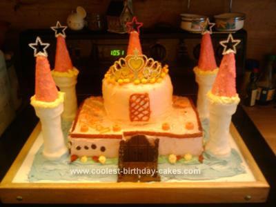 Homemade Birthday Castle Cake