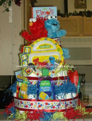 Homemade Birthday Diaper Cake