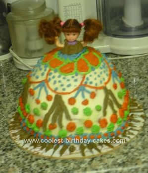 Homemade Birthday Doll Cake