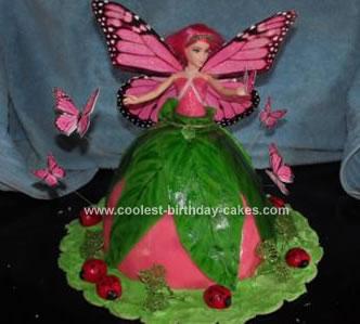 Homemade Birthday Fairy Cake
