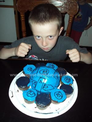Homemade Blue Bakugan Cake