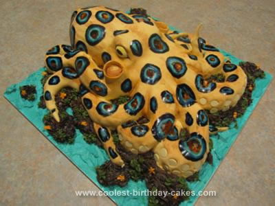 Homemade Blue Ringed Octopus Cake