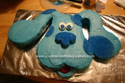 Homemade Blue's Clues Cake