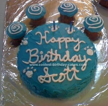 Homemade Blues Clues Pawprint Cake