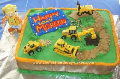 Homemade Bob the Builder Birthday Cake