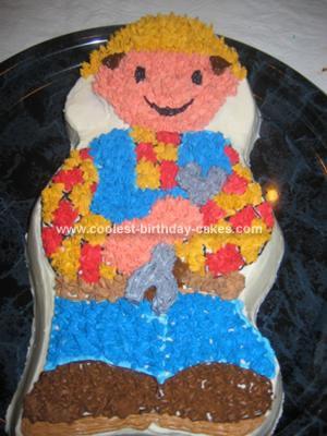 Homemade Bob the Builder Cake