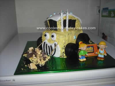 Homemade Bob the Builder Cake Idea