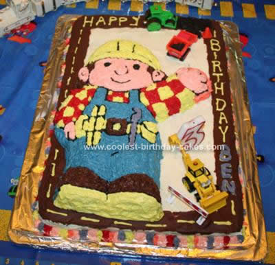 Coolest Bob the Builder Under Construction Cake 31