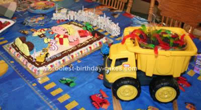 Homemade Bob the Builder Under Construction Cake