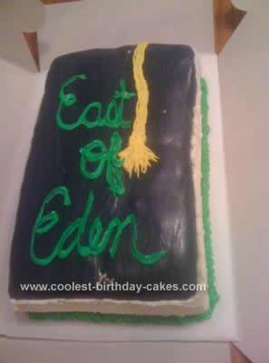 Homemade Book Cake Idea