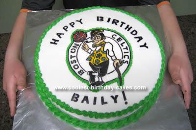 Homemade Boston Celtics Birthday Cake