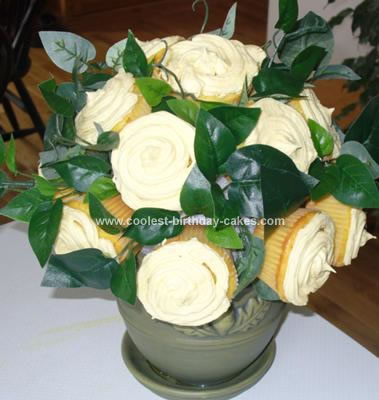 Homemade Bouquet Of Flowers Cake