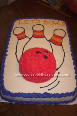 Homemade Bowling Ball 3D Cake