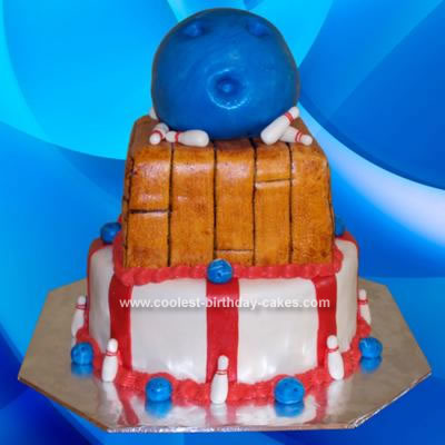 Homemade Bowling Ball Birthday Cake