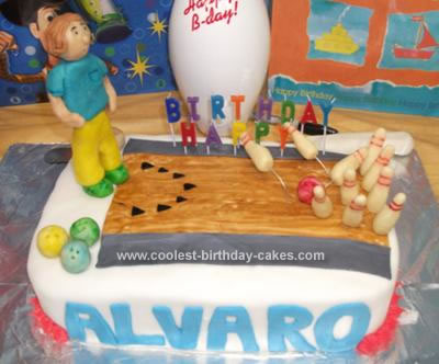 Homemade Bowling Birthday Cake