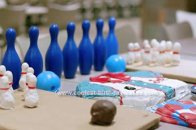 Homemade Bowling Shirt Cake
